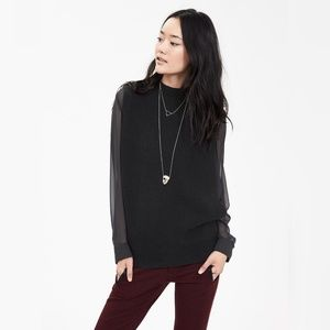 Banana Republic Black Envelope Side Sweater